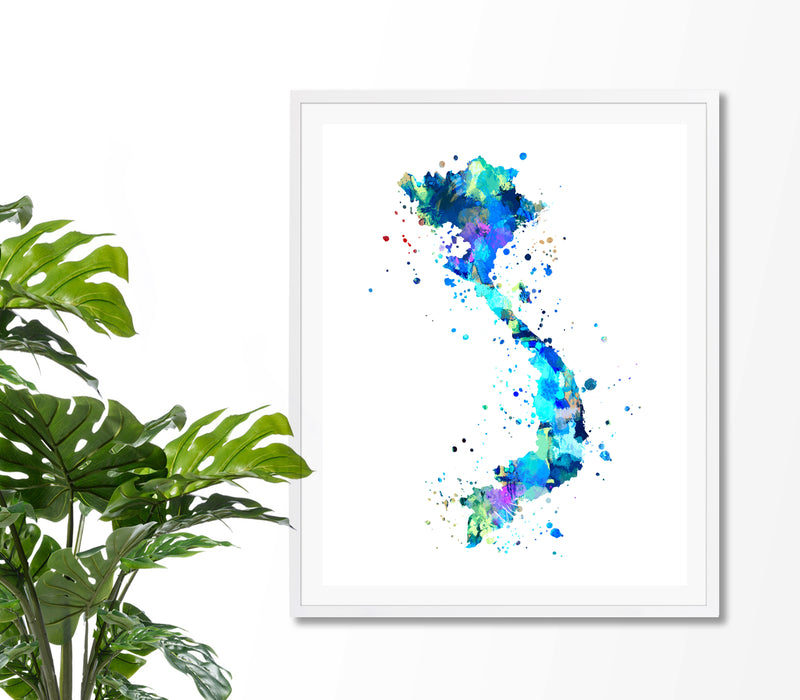 Vietnam Map Art Print - Unframed - Zuzi's