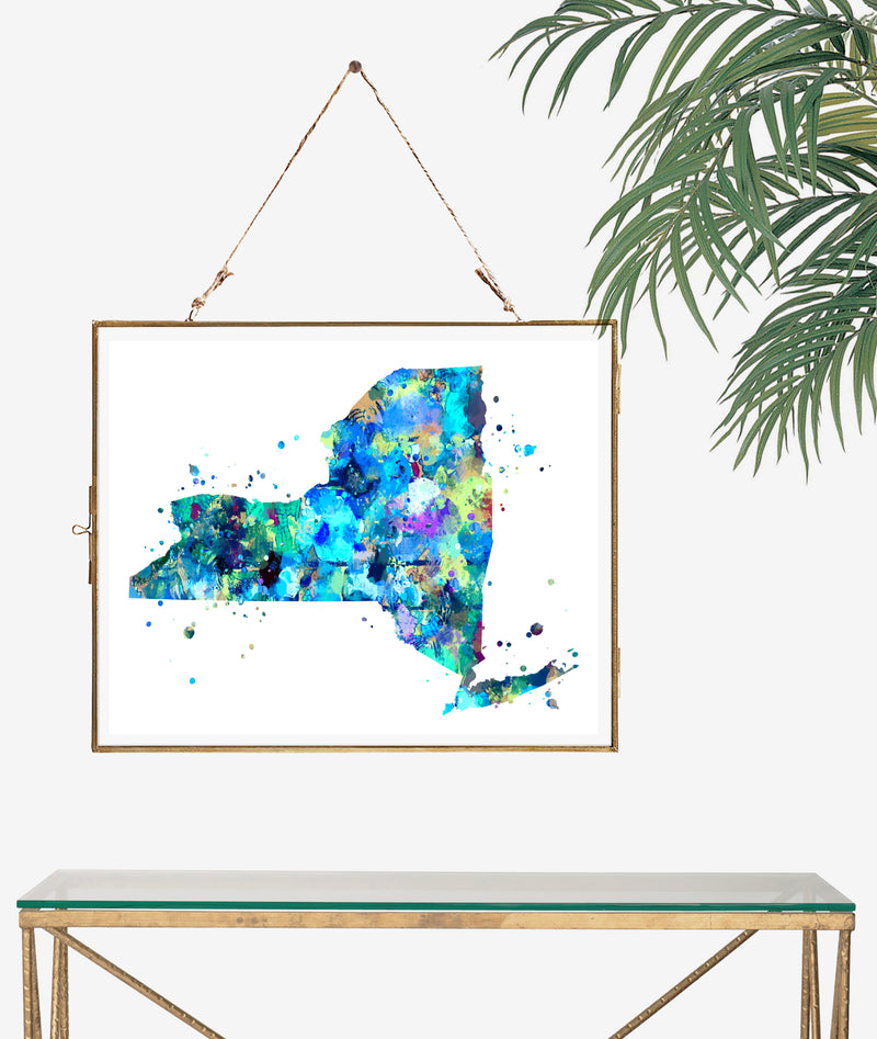 New York Map Art Print - Unframed - Zuzi's