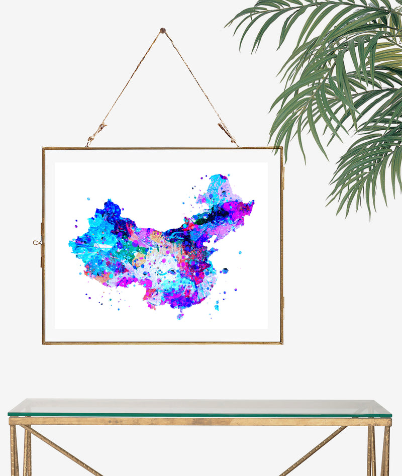China Map Art Print - Unframed - Zuzi's