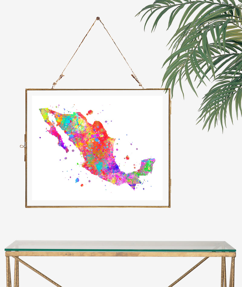 Mexico Map Art Print - Unframed - Zuzi's