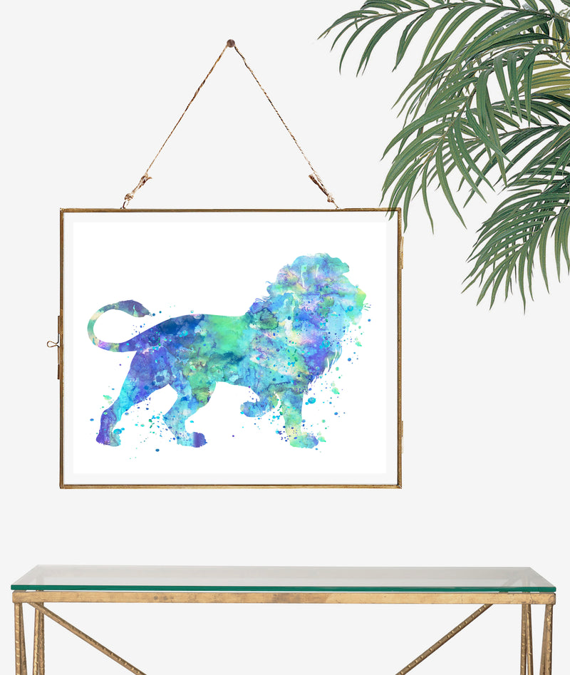 Lion Watercolor Art Print - Unframed - Zuzi's