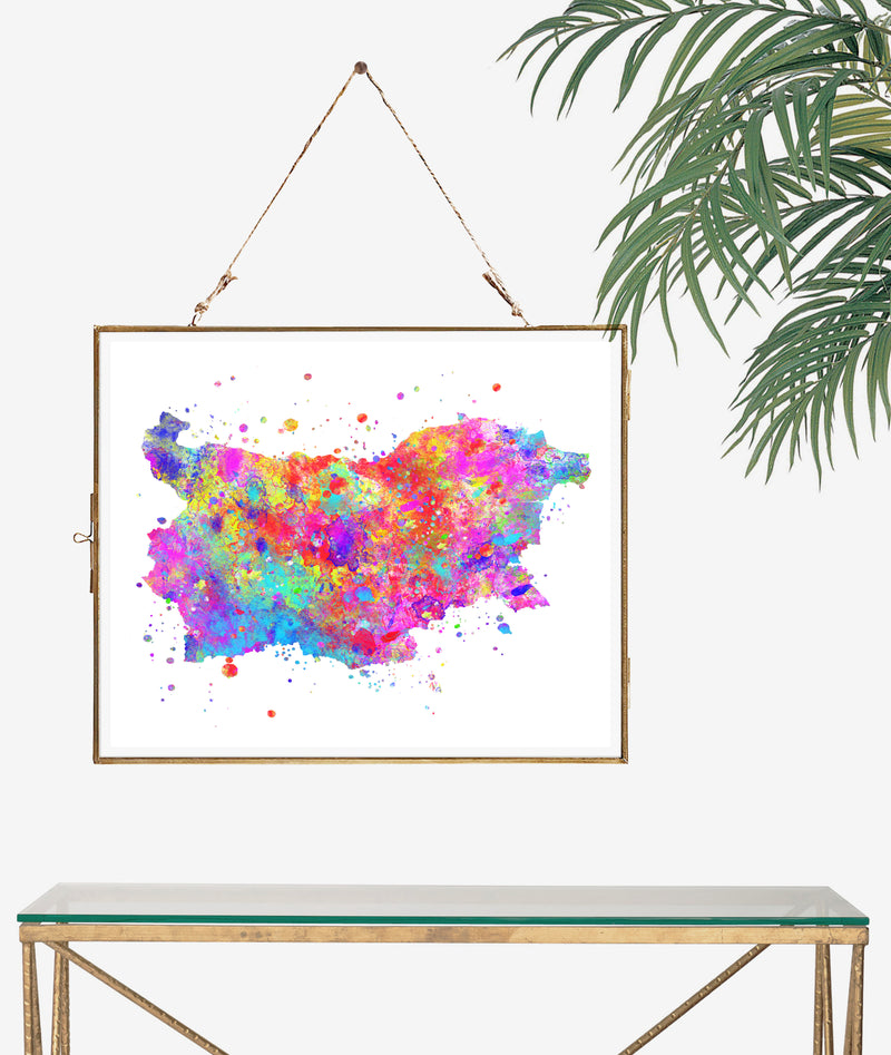 Bulgaria Map Art Print - Unframed - Zuzi's