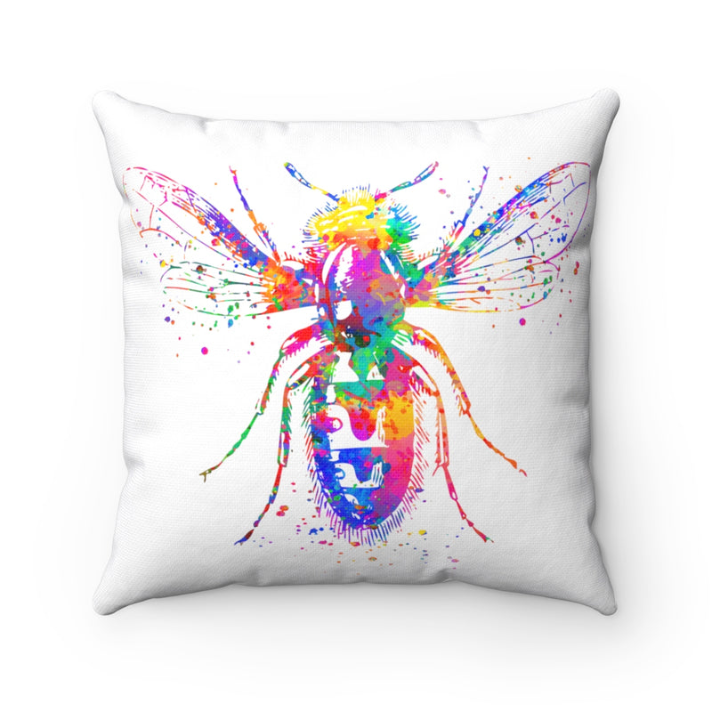 Colorful Bee Square Pillow - Zuzi's