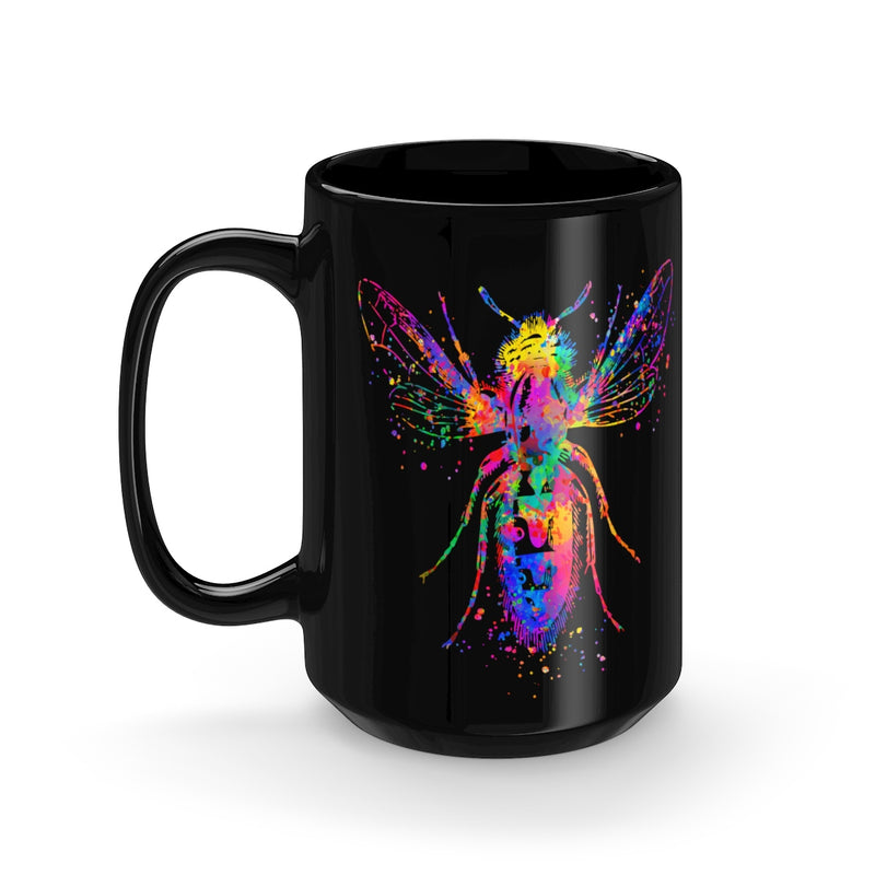 Watercolor Buffalo Black Mug 15oz - Zuzi's
