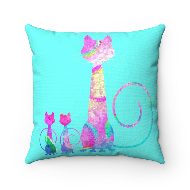 Abstract Cats Square Pillow - Zuzi's