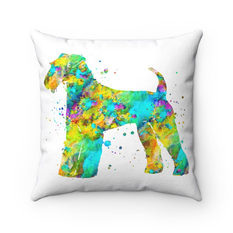 Airedale Terrier Square Pillow - Zuzi's