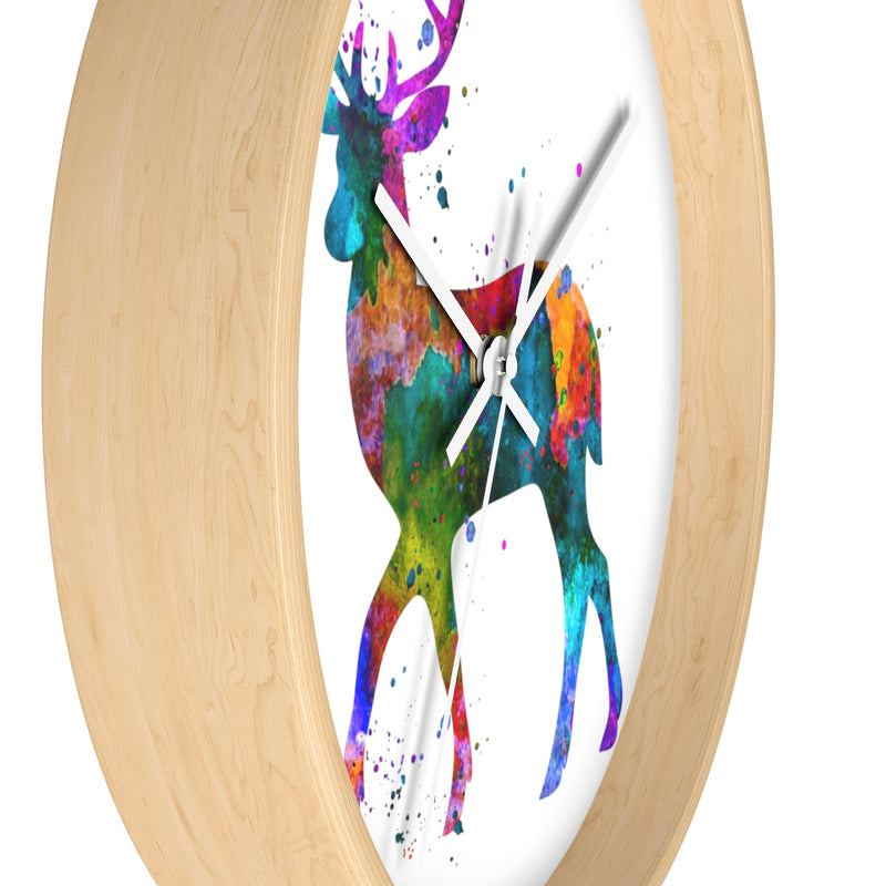 Watercolor Deer Wall Clock - Zuzi's