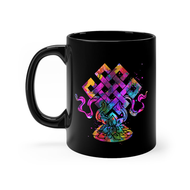 Eternal Knot  Black Mug 11oz - Zuzi's