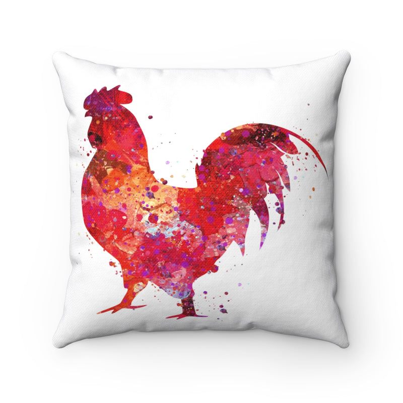 Colorful Rooster Square Pillow - Zuzi's