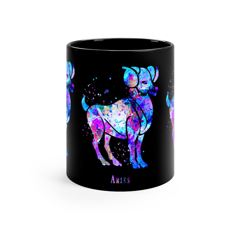 Aries Zodiac Sign Black Mug 11oz - Zuzi's