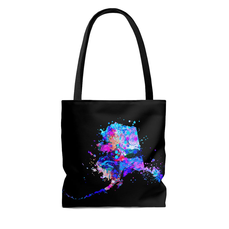 Watercolor Alaska  Map Tote Bag - Zuzi's