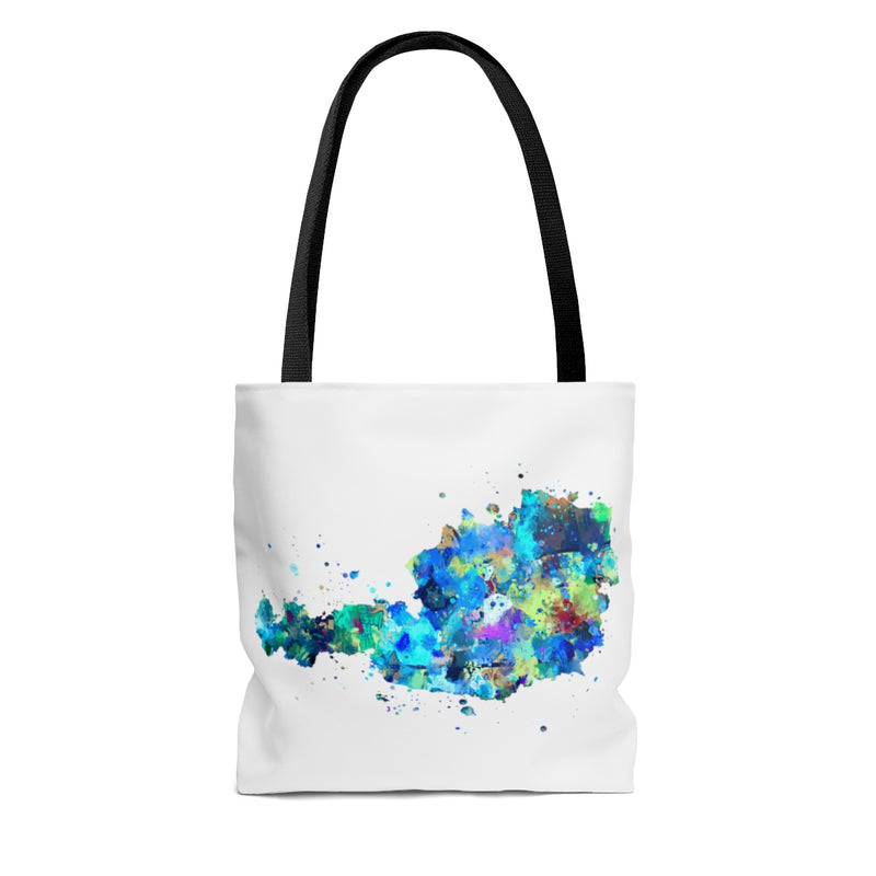 Watercolor Austria Map Tote Bag - Zuzi's