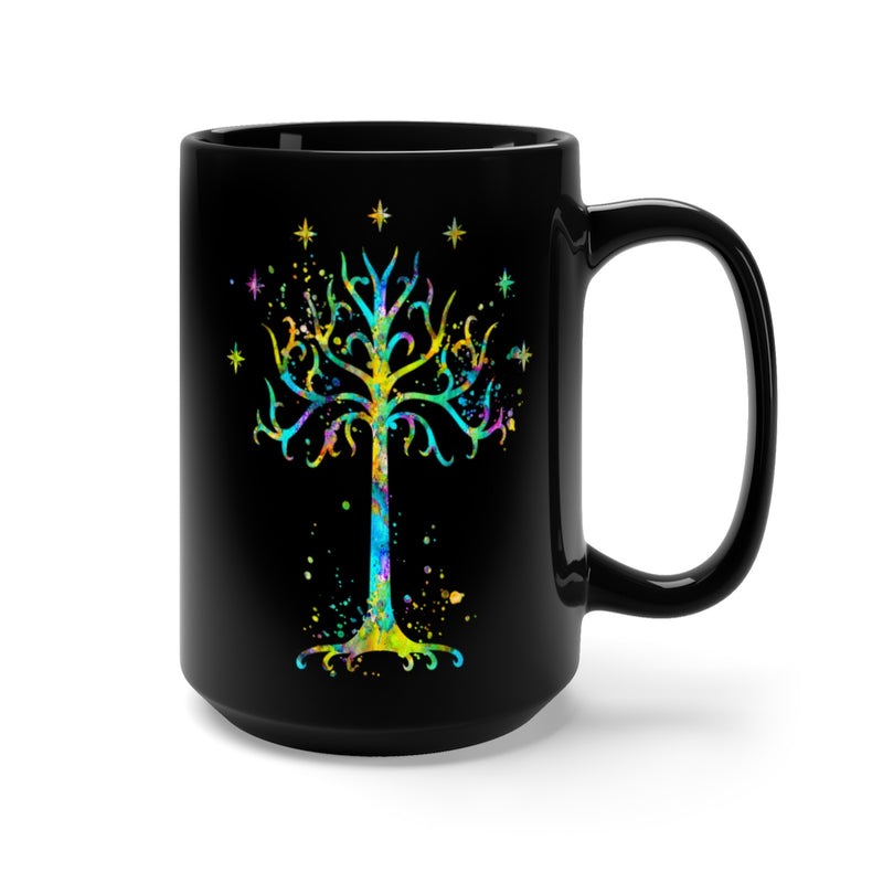 Tree Of Gondor Black Mug 15oz