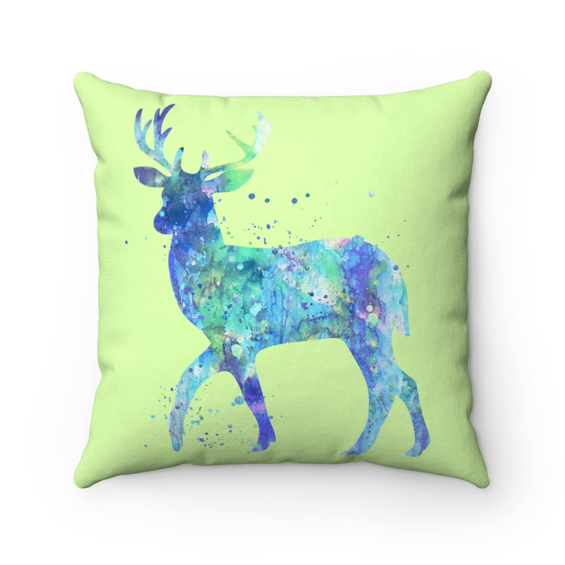 Watercolor Deer Square Pillow - Zuzi's