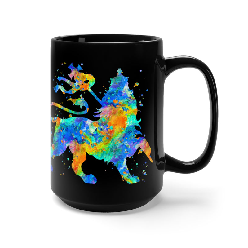 Lion Of Judah Black Mug 15oz - Zuzi's