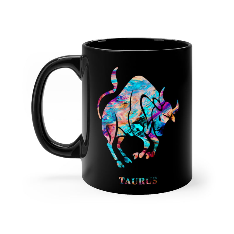Taurus Zodiac Sign Black Mug 11oz - Zuzi's