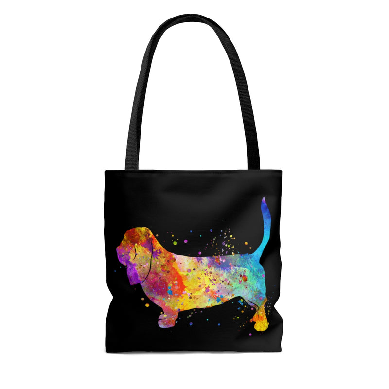Watercolor Basset Hound Tote Bag - Zuzi's