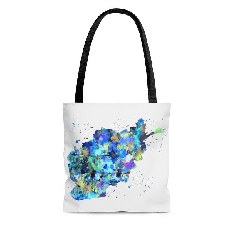 Watercolor Afghanistan Map Tote Bag - Zuzi's