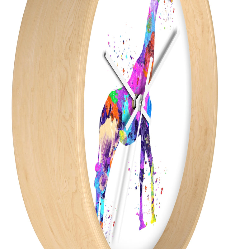 Watercolor Giraffe Wall Clock - Zuzi's