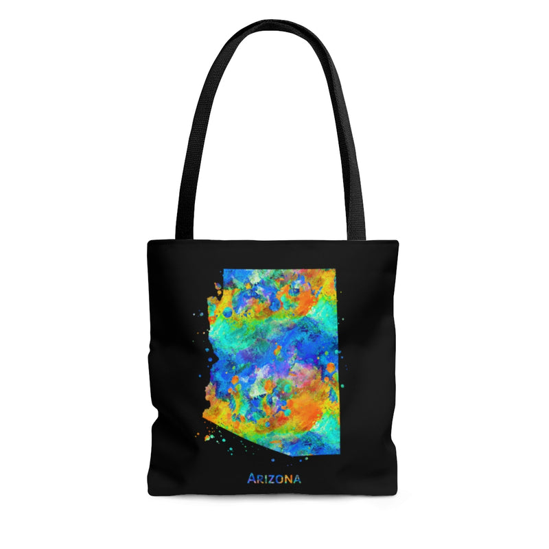 Watercolor Arizona  Map Tote Bag - Zuzi's