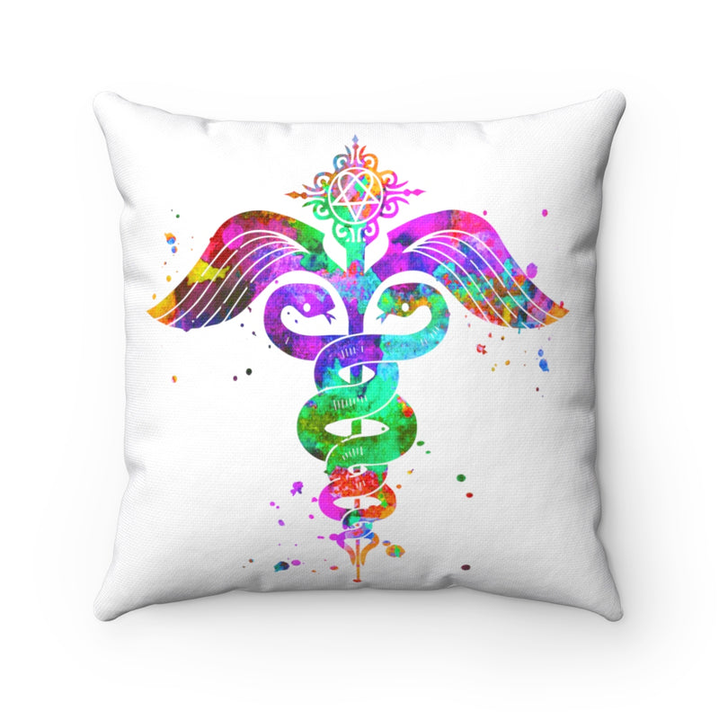 Caduceus Square Pillow - Zuzi's