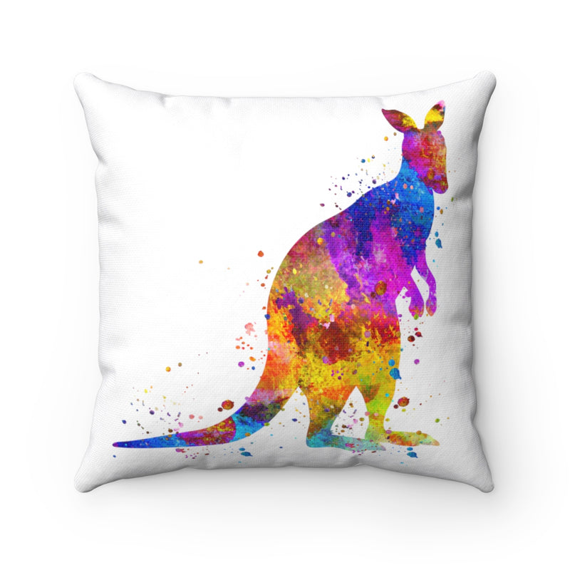 Colorful Kangaroo Square Pillow - Zuzi's