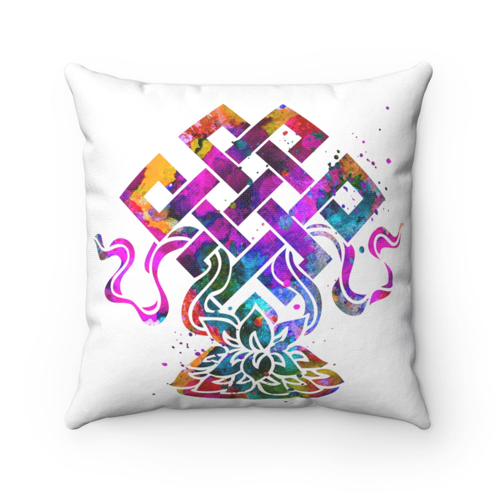 Eternal Knot Square Pillow - Zuzi's
