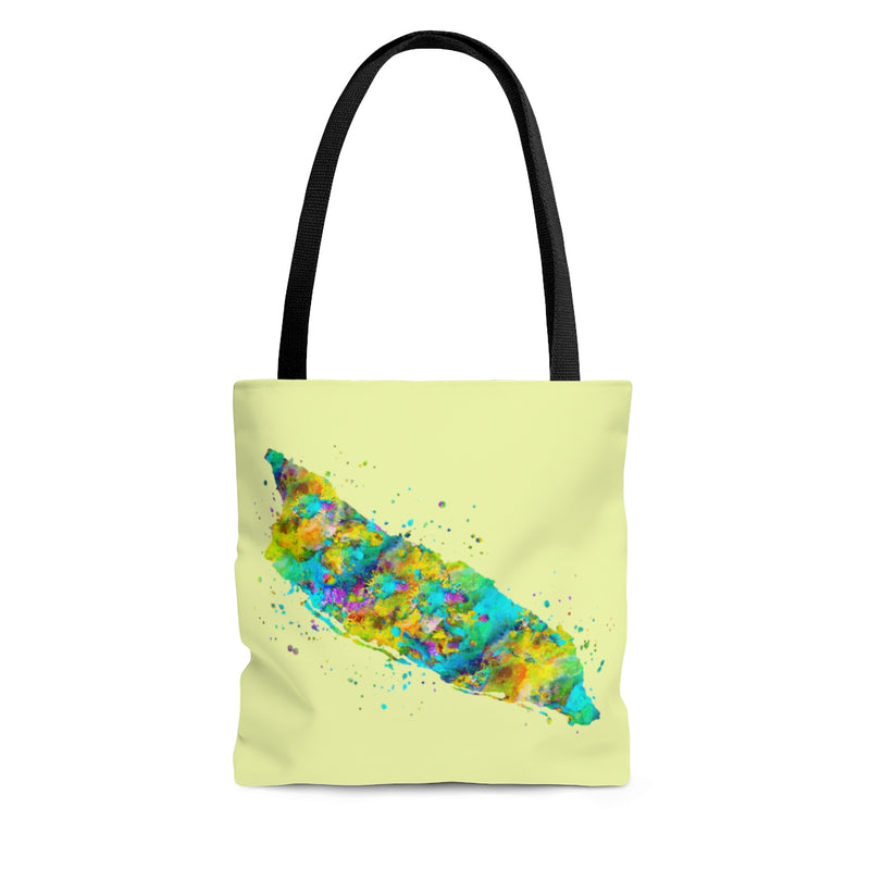 Watercolor Aruba Map Tote Bag - Zuzi's