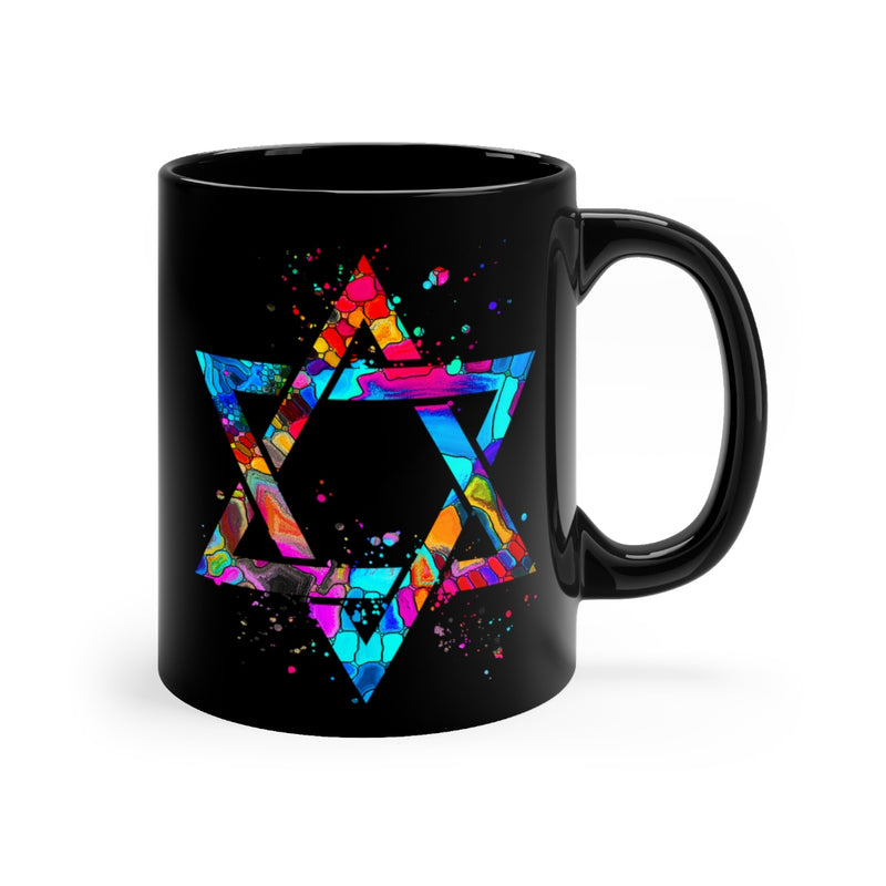 Star Of David Black Mug 11oz