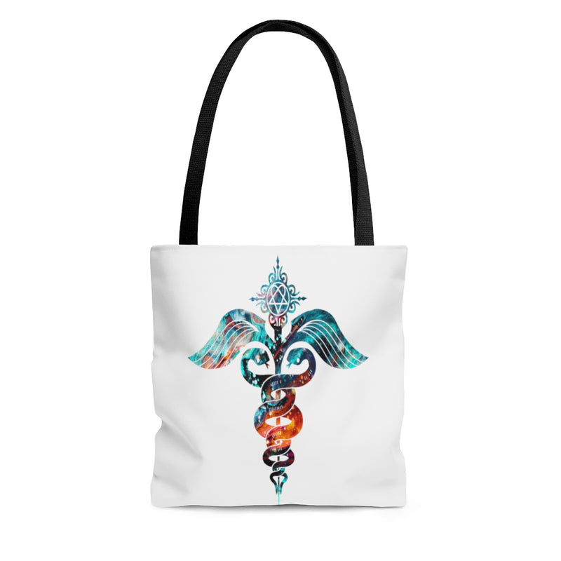 Watercolor Caduceus Tote Bag - Zuzi's