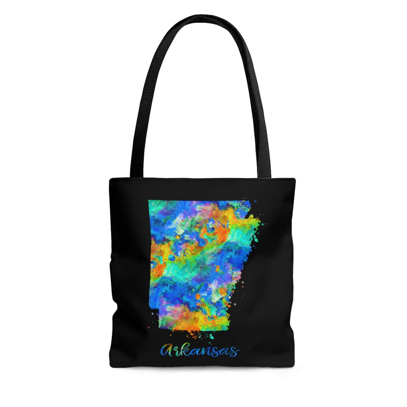 Watercolor Arkansas Map Tote Bag - Zuzi's