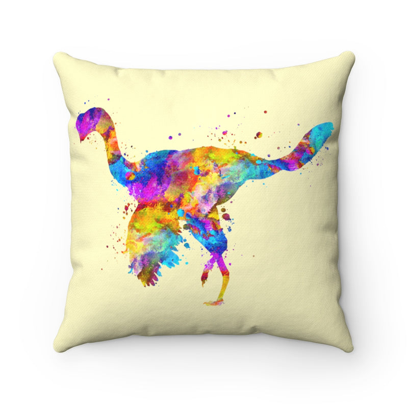 Citipati Dinosaur Square Pillow
