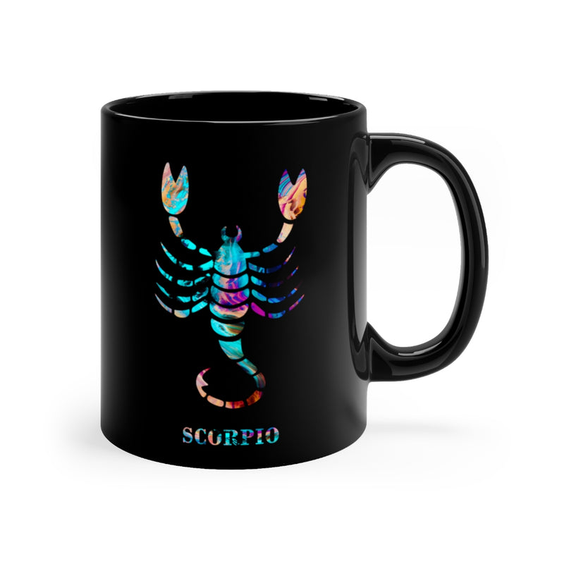 Scorpio Zodiac Sign Black Mug 11oz - Zuzi's