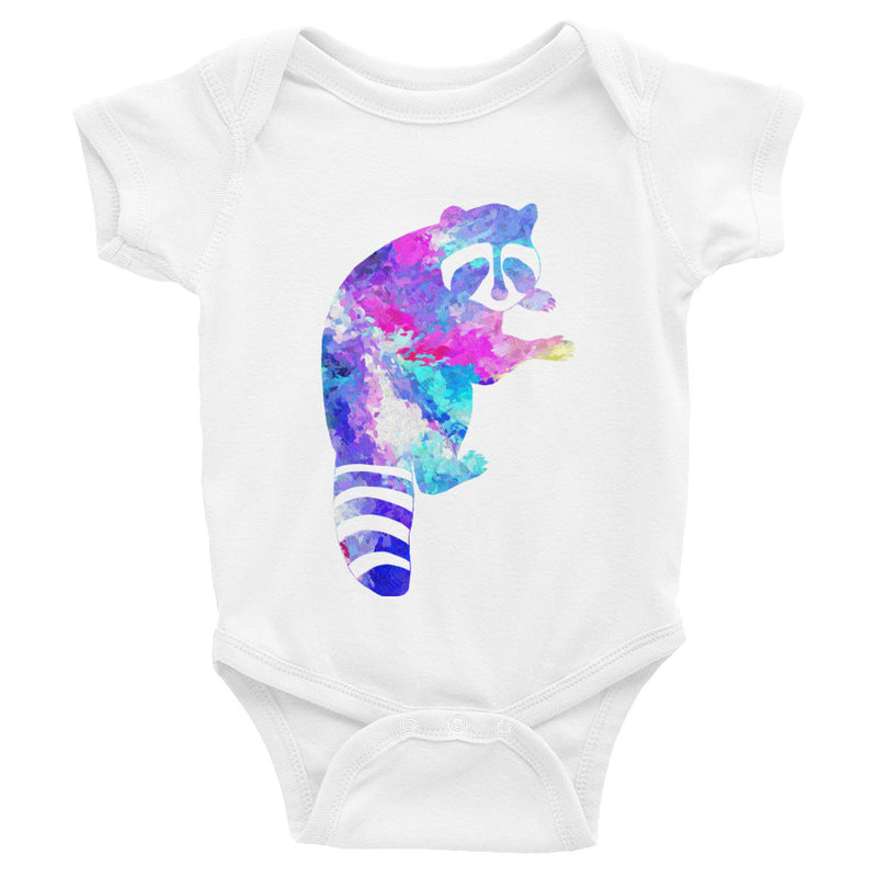 Watercolor Raccoon Infant Bodysuit - Zuzi's