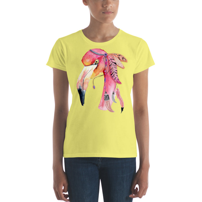 Watercolor Flamingo Women's short sleeve t-shirt - Zuzi's