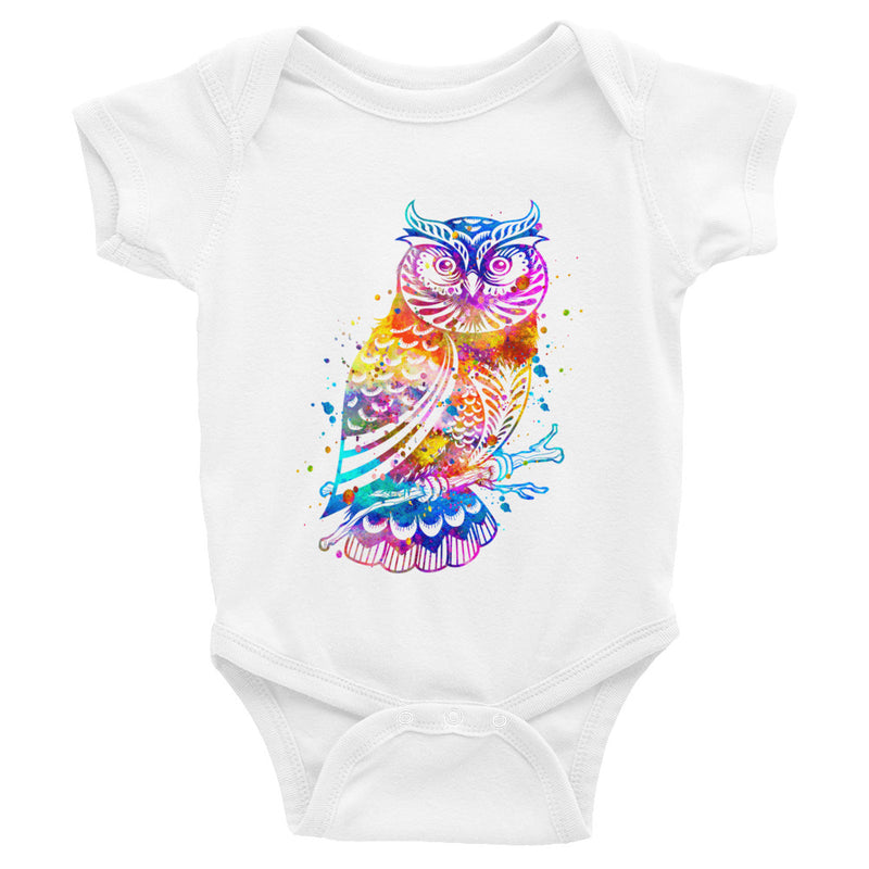 Watercolor Owl Infant Bodysuit - Zuzi's