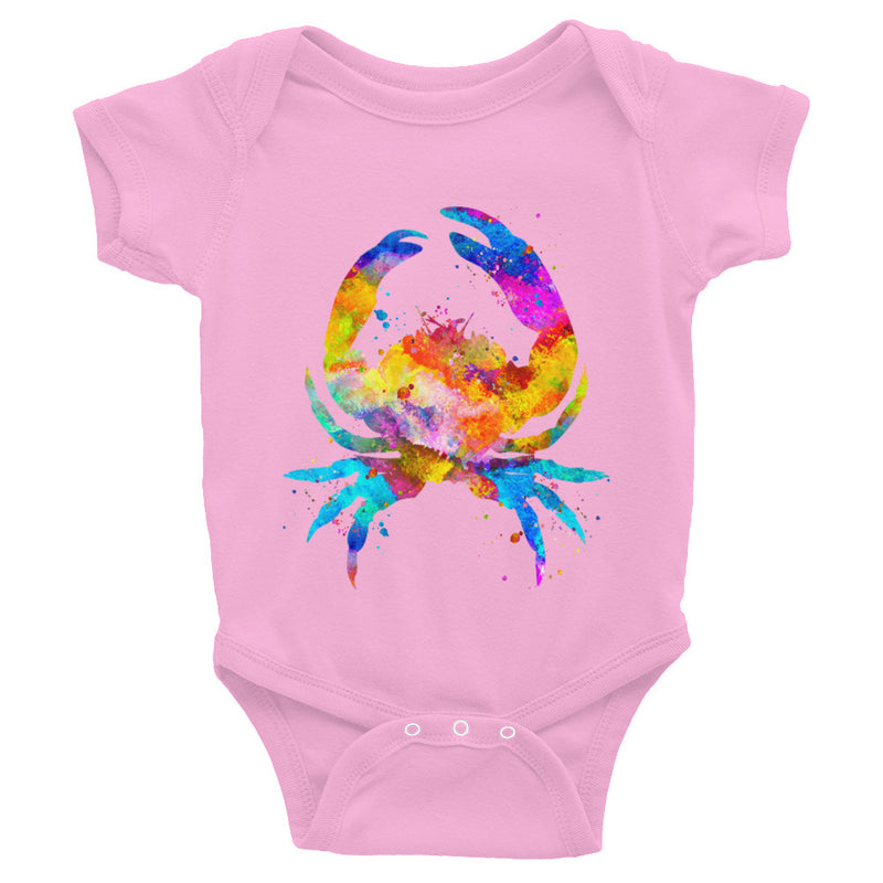 Watercolor Crab Infant Bodysuit - Zuzi's