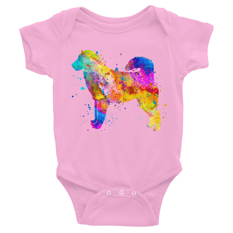 Watercolor Alaskan Malamute Infant Bodysuit - Zuzi's