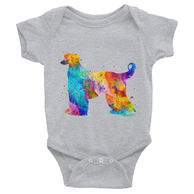Watercolor Afghan Hound Infant Bodysuit - Zuzi's
