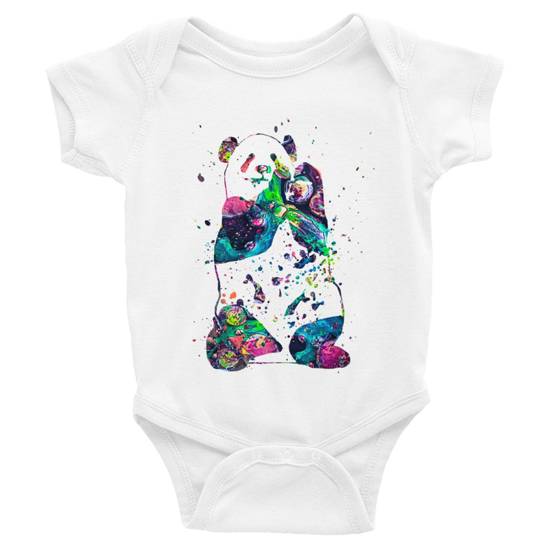 Watercolor Panda Infant Bodysuit - Zuzi's
