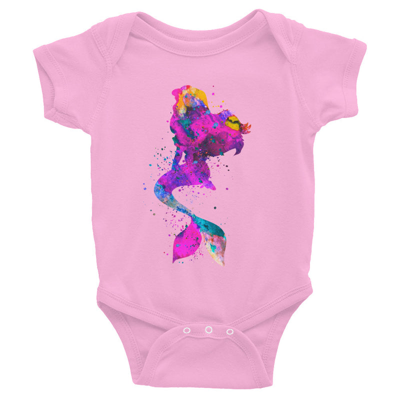 Watercolor Mermaid Infant Bodysuit - Zuzi's