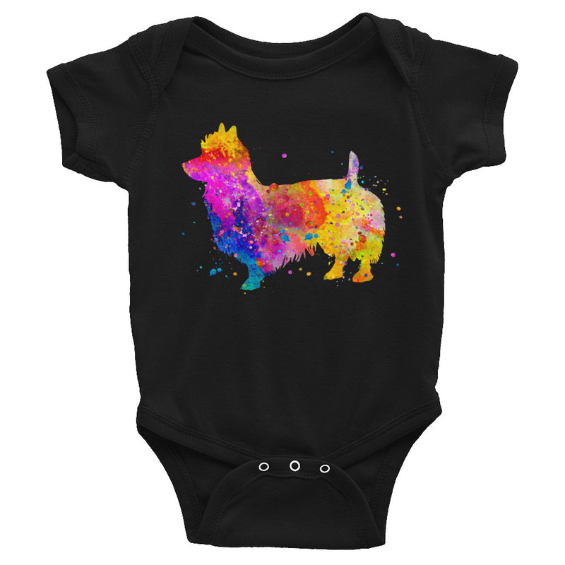 Watercolor Australian Terrier Infant Bodysuit - Zuzi's