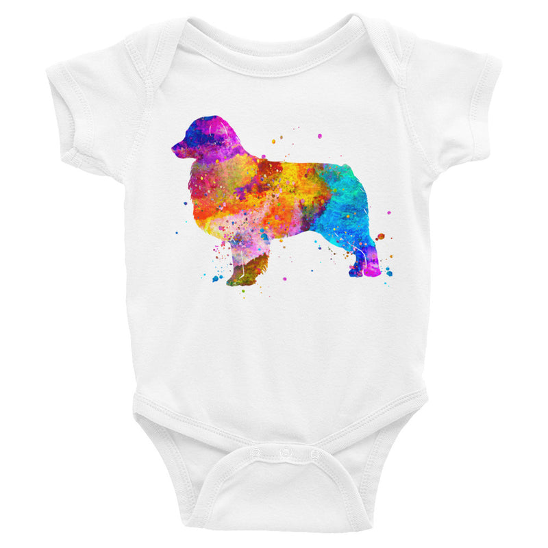 Watercolor Australian Shepherd Infant Bodysuit - Zuzi's