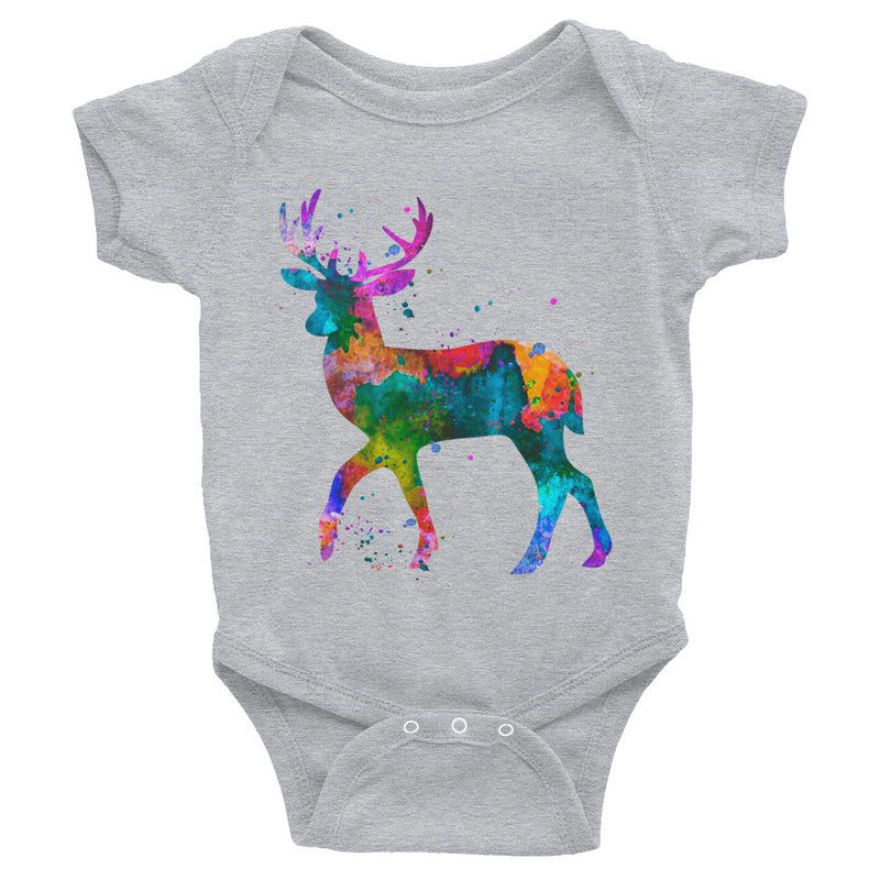 Watercolor Deer Infant Bodysuit - Zuzi's