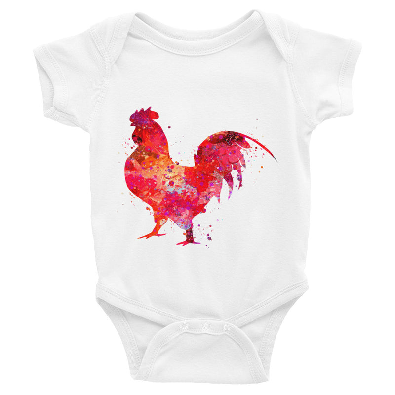 Watercolor Rooster Infant Bodysuit - Zuzi's