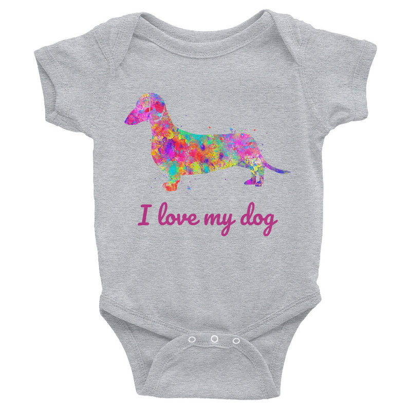 Watercolor Basset Hound Infant Bodysuit - Zuzi's