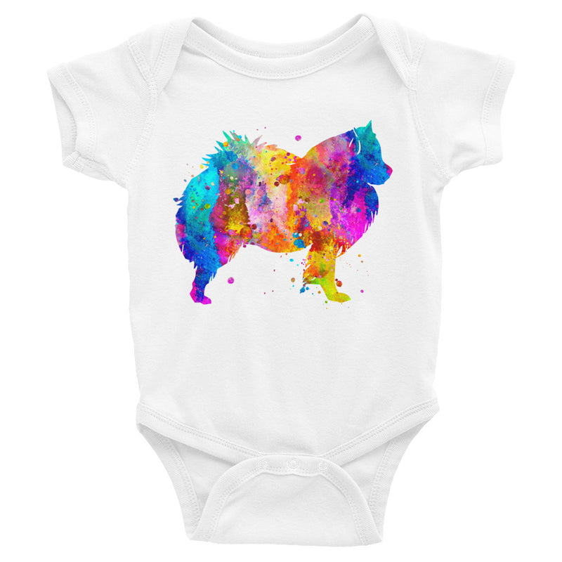 Watercolor American Eskimo Infant Bodysuit - Zuzi's
