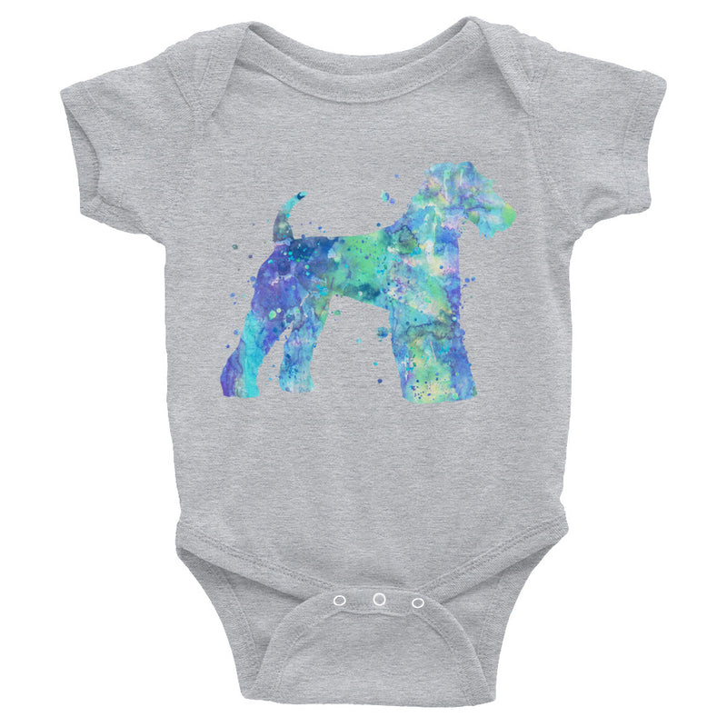 Watercolor Airedale Terrier Infant Bodysuit - Zuzi's