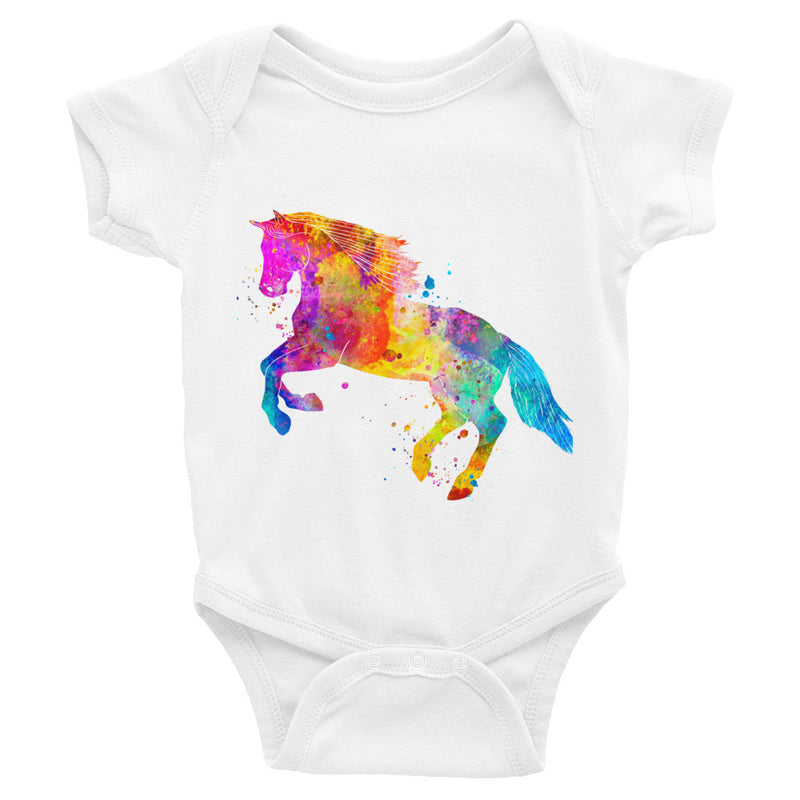 Watercolor Horse Infant Bodysuit - Zuzi's