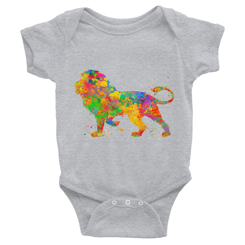 Watercolor Lion Infant Bodysuit - Zuzi's